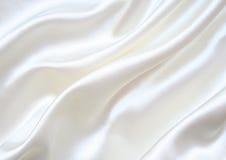 作为背景典雅的丝绸平稳的白色 免版税库存图片