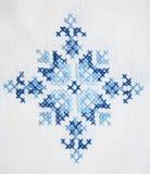 作为背景刺绣表面纺织品 库存照片
