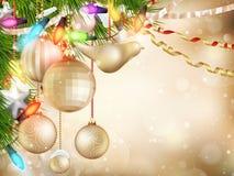 作为背景圣诞节金例证 10 eps 库存照片