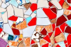 作为背景的抽象五颜六色的镶嵌构造 免版税库存图片