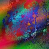 作为背景的摘要上色彩虹墙壁 库存图片