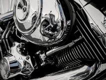 作为背景的摩托车引擎 库存图片