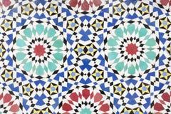 作为背景的摩洛哥马赛克 免版税库存图片
