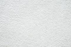 作为背景的概略的白色混凝土墙纹理 免版税库存照片