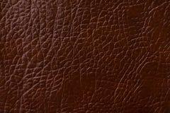 作为背景的深红皮革纹理印刷品 库存照片