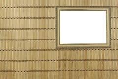 作为背景的竹席子 一张竹席子的结构的详细的正面图 库存照片