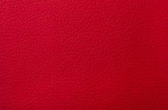 作为背景的红色皮革纹理印刷品 免版税库存图片