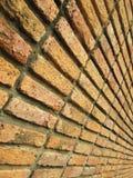 作为背景的老被风化的砖墙 免版税库存图片