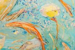 作为背景的蓝色和黄色抽象油画 向量例证