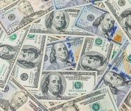 作为背景的钞票 库存照片