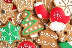 作为背景的鲜美圣诞节曲奇饼 免版税库存图片