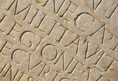 作为背景罗马文字 库存图片
