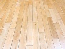 作为背景,被涂清漆的木木条地板的浅褐色的软的木地板表面纹理 老难看的东西洗涤了橡木层压制品的样式名列前茅vi 免版税图库摄影