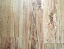 作为背景,被涂清漆的木木条地板的轻的软的木地板表面纹理 老难看的东西洗涤了橡木层压制品的样式顶视图 库存照片