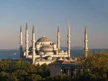 作为蓝色camii著名清真寺的ahmet多数苏丹 免版税图库摄影