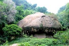 作为蘑菇同样石头 库存照片