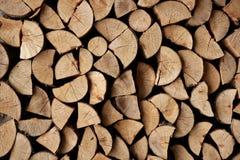 作为被剪切的木柴记录模式栈 免版税库存照片