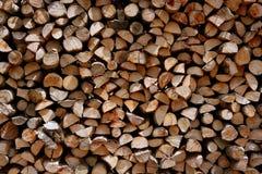 作为被剪切的木柴记录模式栈 免版税库存图片
