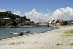 作为被看见的bay del isla湖sol titicaca 免版税库存图片