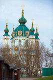 1747年作为被编译的教会东部基辅已知的orthordox s st乌克兰的安德鲁andrivska是 免版税库存照片
