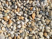 作为装饰外部公园的石头 免版税库存照片