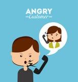 作为覆盖客户友好帮助有用的爱服务微笑对非常您的美丽的女实业家的天使 库存例证