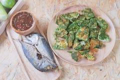 作为辣虾酱的泰国地方普遍的食物 库存照片