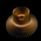 作为铜物质涡轮 库存图片