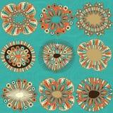 作为颜色设计要素花卉滚动vectorized愿望您 免版税图库摄影