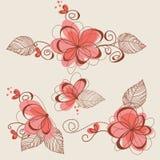 作为颜色设计要素花卉滚动vectorized愿望您 免版税库存图片