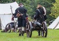 作为17世纪唯利是图的移动穿戴的历史爱好者历史c 图库摄影