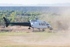 作为350个B2直升机的欧洲直升机公司在洛杉矶美国人英雄期间 库存照片