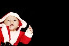 作为婴孩圣诞节父亲 库存照片