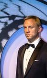 作为代理007詹姆斯庞德的丹尼尔・克雷格在杜莎夫人蜡象馆蜡博物馆在伦敦 图库摄影