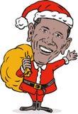 作为barack克劳斯obama圣诞老人 免版税库存照片