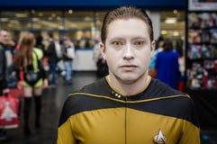 作为Data司令员的Cosplay从星舰奇航记 免版税库存图片
