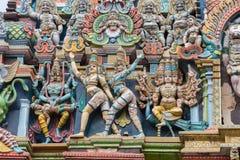 作为Narasimha的他的孔雀的Vishnu阁下和Murugan阁下 库存图片