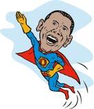 作为obama超级英雄 库存照片