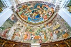 作壁画于的近星点Filippo利皮,在斯波莱托中央寺院  翁布里亚,中央意大利 免版税库存照片