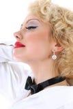 作妇女年轻人的blondie 免版税库存图片