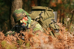 作战军事训练 库存照片
