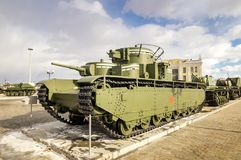 作战军史博物馆的短歌减速火箭的展览,俄罗斯,叶卡捷琳堡, 31 03 2018年 免版税库存照片