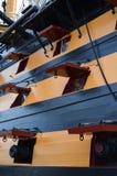 作战蓝色颜色深旗舰hms纳尔逊阁下富有的天空trafalgar胜利 图库摄影