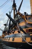 作战蓝色颜色深旗舰hms纳尔逊阁下富有的天空trafalgar胜利 免版税库存照片