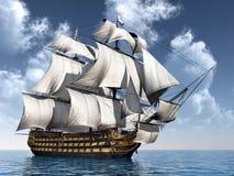 作战蓝色颜色深旗舰hms纳尔逊阁下富有的天空trafalgar胜利 免版税图库摄影