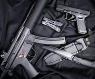 作战backgound自定义dof小点手电查出的m4a1现代对象ops红色步枪浅射击视域遏声器spec的工作室掀动我们视图武器白色 库存图片