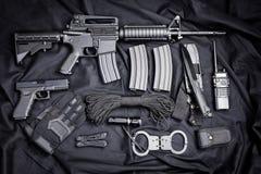 作战backgound自定义dof小点手电查出的m4a1现代对象ops红色步枪浅射击视域遏声器spec的工作室掀动我们视图武器白色 图库摄影