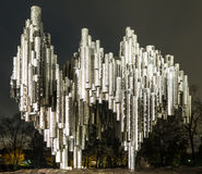 作曲家吉恩・西贝利厄斯的纪念碑 库存图片