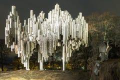 作曲家吉恩・西贝利厄斯的纪念碑 免版税库存图片