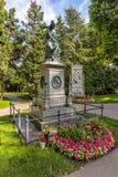 作曲家沃尔夫冈・阿马德乌・莫扎特坟墓在公墓在维也纳 图库摄影